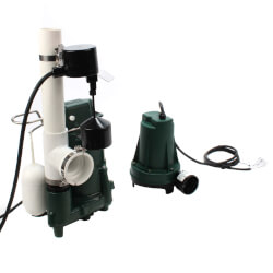 Aquanot 508 Sump Pump System w/ M98 pump & 12V Battery Back-Up Product Image