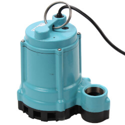 9EN-CIM 4/10 HP, 80 GPM Man. Submersible Sump Effluent Pump, 20' Cord Product Image