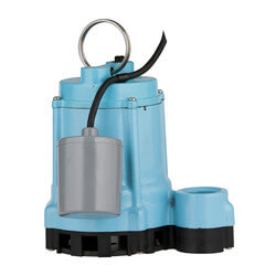 9EN-CIA-RF 4/10 HP 80 GPM Submersible Sump Effluent Pump, 20' Cord Product Image
