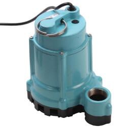 9EN-CIM 4/10 HP, 80 GPM Man. Submersible Effluent Pump, 20' Cord (208-230V) Product Image