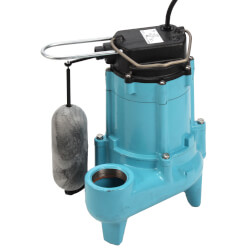 9SN-CIA-SFS 4/10 HP - Auto. Submersible Effluent Pump 20 ft Power Cord Product Image