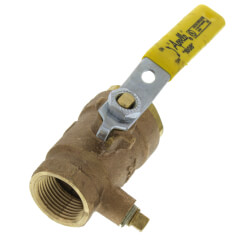 "3/4"" Gas Shut-Off Ball Valve, 1/8"" Tap Product Image"