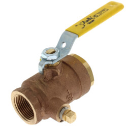 """1"""" Gas Shut-Off Ball Valve, 1/4"""" Tap Product Image"""