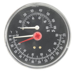 Combo Pressure<br>Temperature Gauge<br>(All Boiler Sizes) Product Image