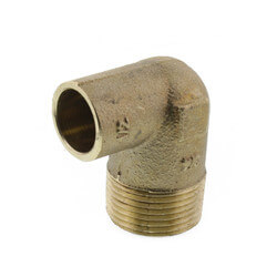 "1/2"" x 3/4"" CxM 90° Elbow (Lead Free) Product Image"