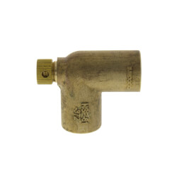 "1/2"" Cast Brass 90° Elbow w/ Drain (Lead Free) Product Image"
