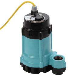HT-10E-CIM 1/2 HP, 80 GPM, 115V - Submersible Man. Sump/Effluent Pump Product Image
