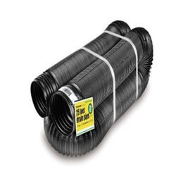 "4"" x 25' Flexible, Perforated Drain Pipe Product Image"