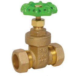"""1/2"""" Compression Ends Gate Valve (Lead Free) Product Image"""