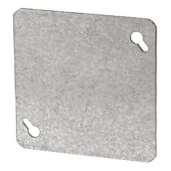 "4"" Steel Square Flat and Blank Device Cover Product Image"