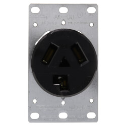 Flush Mount Receptacle, 30A, 3P, NEMA 10-30R - Black (125/250V) Product Image