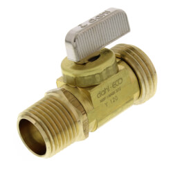 "1/2"" Swt or 1/2"" MIP x Male Hose, Straight Hose & Boiler Drain, LF (Brass) Product Image"
