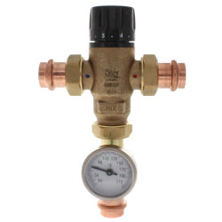 "3/4"" Press MIXCAL <br>3-Way Thermostatic<br>Mixing Valve w/ Gauge Product Image"