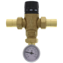 "3/4"" Sweat MIXCAL 3-way Mixing Valve w/ Temp. Gauge & Check Product Image"