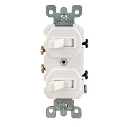 Single-Pole, Duplex Style Switch Combo, 15A - White (120/277V) Product Image