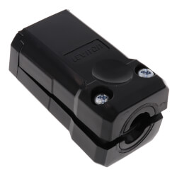 Industrial Grade 2-Piece Connector, 15A, NEMA 5-15R - Black (125V) Product Image
