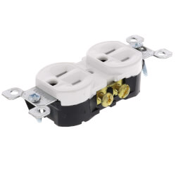 Duplex Receptacle w/ Quickwire, 15A, 5-15R - White (125V) Product Image