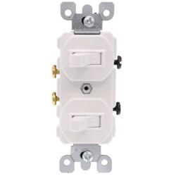Single-Pole, Duplex Style Switch Combo, 20A - White (120/277V) Product Image