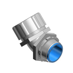 """2"""" Insulated Zinc Plated Malleable Iron 45° Liquid Tight Connector  Product Image"""