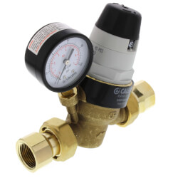 "3/4"" NPTF Pressure Reducing Valve w/ Gauge (Low Lead, Pre-adjustable) Product Image"