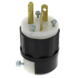 Industrial Grade Plug, 20A, NEMA 5-20P - Black/White (125V) Product Image