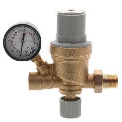 "1/2"" NPT AutoFill Boiler Feed Valve w/ Pressure Gauge Product Image"