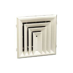 """RZ503 12"""" x 12"""" (Wall Opening Size) 3-Way Ceiling Diffuser (Polymer/Rezzin) Product Image"""