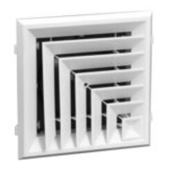 """RZ505 12"""" x 12"""" 2-Way Ceiling Diffuser (Polymer/Rezzin) Product Image"""