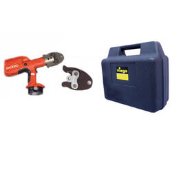 "Compact Battery Press Tool Kit with 1/2"", 3/4"" & 1"" PEX Press Jaws Product Image"