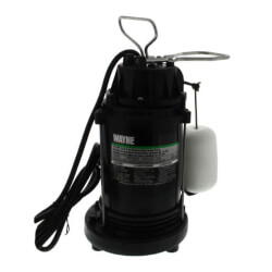 CDU790 1/3 HP, Epoxy Coated Cast Iron Auto Submersible Sump Pump w/ Vertical Float Switch Product Image