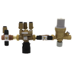"1/2"" Threaded 574 Brass RPZ Backflow Preventer w/ AutoFill Combo (Lead Free) Product Image"