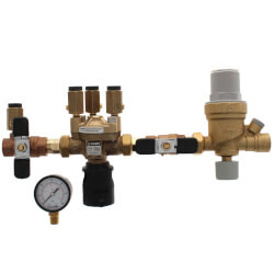 "1/2"" Threaded 574 Brass RPZ Backflow Preventer & AutoFill Combo w/ Gauge (Lead Free) Product Image"