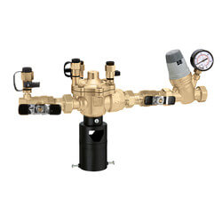 "3/4"" Threaded 574 Brass RPZ Backflow Preventer & AutoFill Combo w/ Gauge (Lead Free) Product Image"
