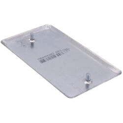 "4"" x 2-1/8"" x 1/4"" Raised Single-Gang Blank Utility Box Cover Product Image"