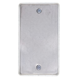"4"" x 2-1/8"" x 1/4"" Raised Single-Gang Blank Utility Box Cover Product Image"