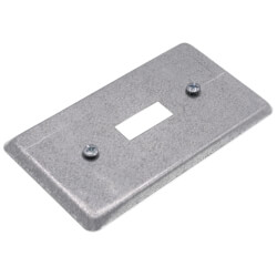 """4"""" x 2-1/8"""" x 1/4"""" Raised Utility Box Cover for One Toggle Switch Product Image"""