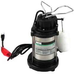CDU1000 1 HP, Cast Iron and Stainless Steel Submersible Sump Pump w/ Vertical Float Switch Product Image