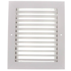 """6"""" x 16"""" (Wall Opening Size) Steel Return Grille, 35° Fixed Blade (94A Series) Product Image"""