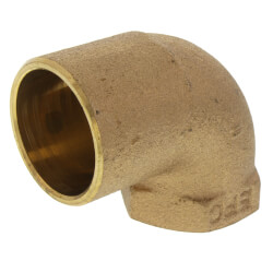"1"" x 3/4"" CxF 90° Elbow (Lead Free) Product Image"