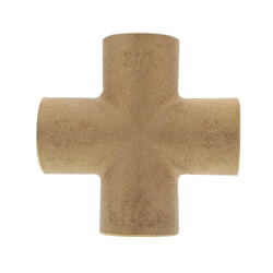 "3/4"" Cast Brass Cross (Lead Free) Product Image"