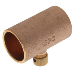 """3/4"""" Copper Coupling w/ Drain (Lead Free) Product Image"""