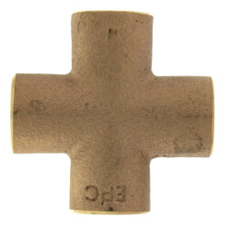 "1/2"" Cast Brass Cross (Lead Free) Product Image"