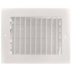 """10"""" x 6"""" (Wall Opening Size) White Aluminum Double Deflection Register (HVD Series) Product Image"""