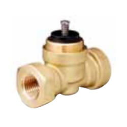"1/2"" 2-Way Normally Closed Globe Valve Body, 70 PSI, Female (0.4 Cv) Product Image"