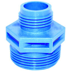 """GH-3/4 - 1-1/4"""" MNPT x 3/4"""" PVC Garden Hose Adapter for Sump Pump, Pool Pump, and Utility Pump Product Image"""
