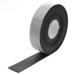 "1/8"" x 2"" x 30 Ft. Black Foam Insulation Tape Product Image"