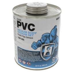 32 oz. Medium Body, Medium Set PVC Cement (Clear) Product Image
