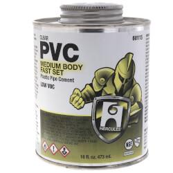16 oz. Medium Body, Fast Set PVC Cement (Clear) Product Image