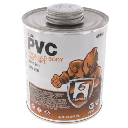 32 oz. Regular Body, Fast Set PVC Cement (Clear) Product Image
