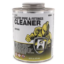 16 oz. Plastic Pipe and Fittings Cleaner (Clear) Product Image